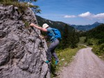 Bouldern beim Abstieg